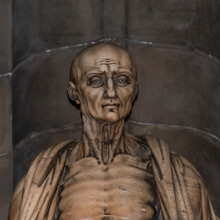 Statue Of St. Bartholomew In Milano's Cathedral, Duomo, Italy