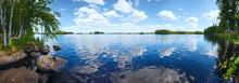 Lake Rutajarvi Summer Panorama (Finland).
