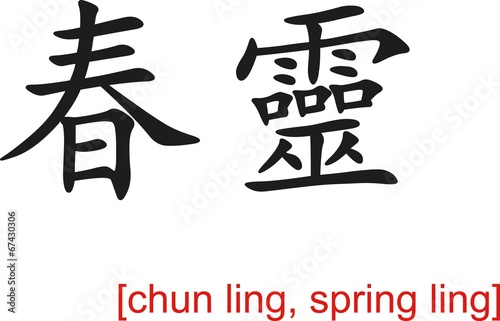 Valokuva  Chinese Sign for chun ling, spring ling