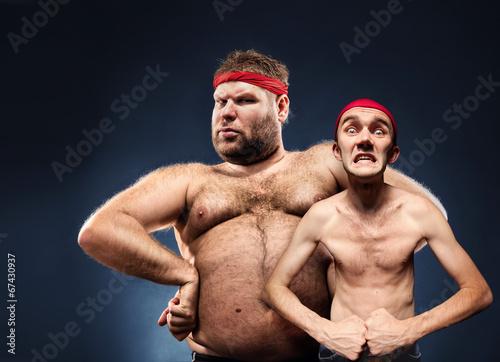 Fotografie, Obraz  Funny body builders