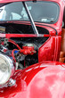1940's restored red ford classic sedan