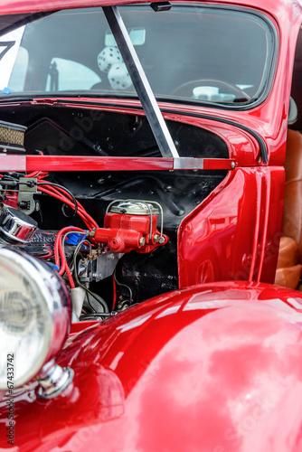 фотография  1940's restored red ford classic sedan