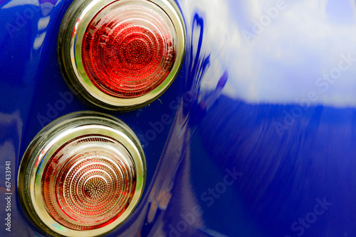 Photo  restored blue Shelby Cobra