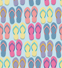Seamless Flip Flop Pattern