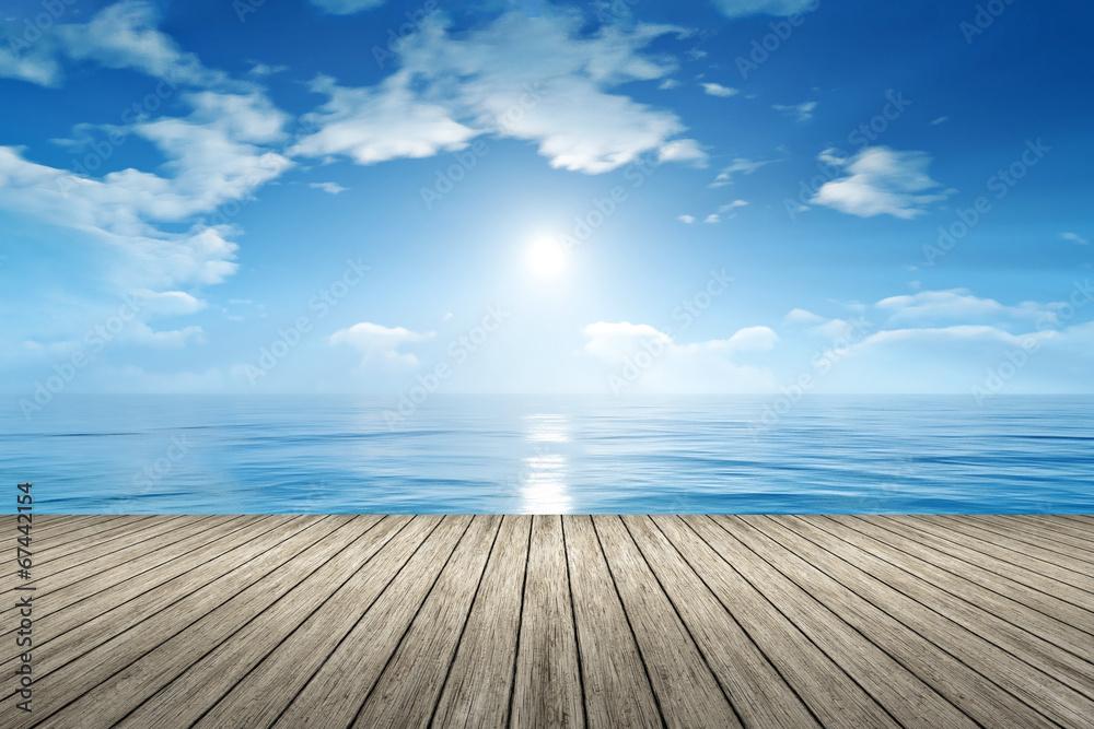 Fototapeta blue sky ocean