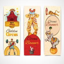 Circus Vintage Banners Set