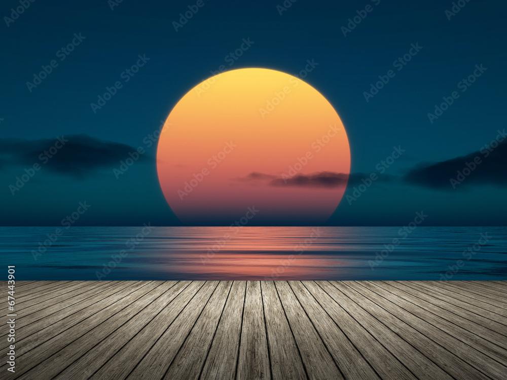 Fototapeta big sunset