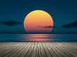 canvas print picture - big sunset