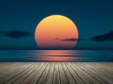 Fototapeta Sunset - big sunset