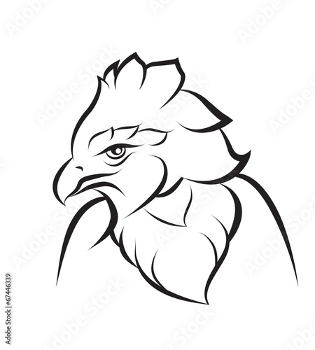 Photo Stands Owls cartoon Line art of crown eagle