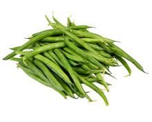 Fresh Green Or String Beans On White