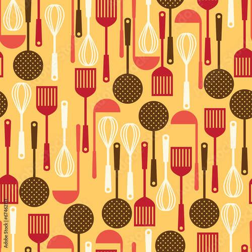 Tapety do aneksu kuchennego  seamless-pattern-with-restaurant-and-kitchen-utensils
