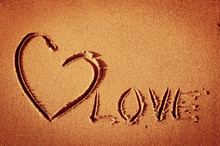 Heart At Sand