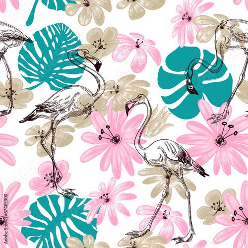 flamingo-i-kwiaty-egzotyczny-ogrod-wzor