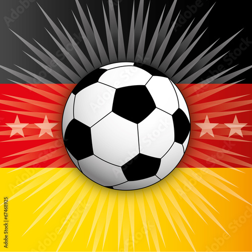 germany flag and ball 2014 Poster