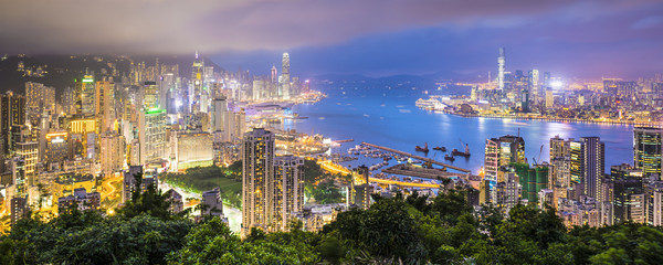 Fototapeta Hong Kong China City Skyline