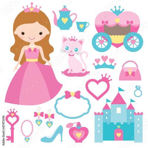 Fotografie, Tablou  Princess design elements