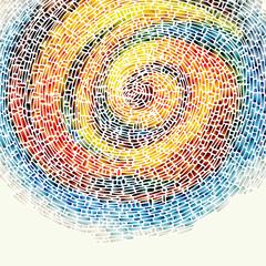 Panel Szklany Podświetlane Mozaika Background