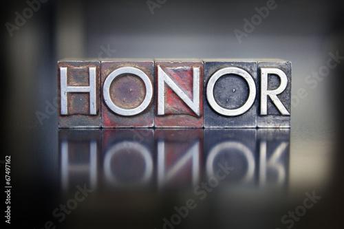 Fototapeta Honor Letterpress