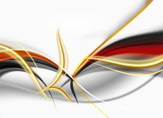 abstrakcja złoto-ogniste fale