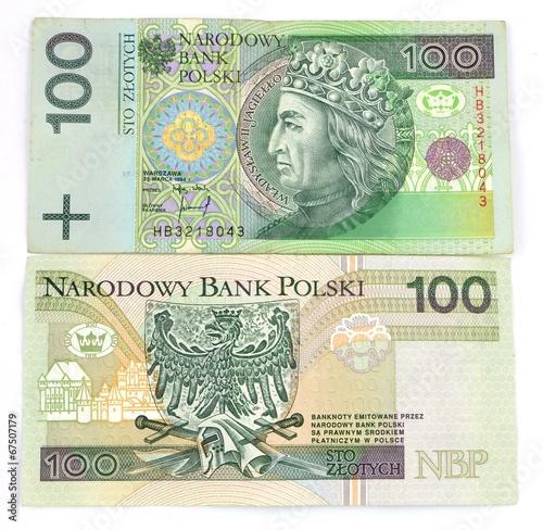 Fotografía  Polish banknotes
