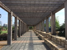 Covered Walkway By A Park