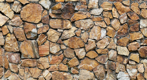 Brown stone wall.