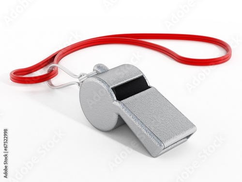 Photo  Whistle with red rope