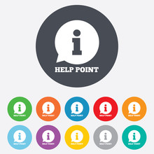 Help Point Sign Icon. Informat...