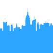 City Skylines Silhouette Background. Vector