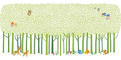 Panel Szklany Eko 여름 숲