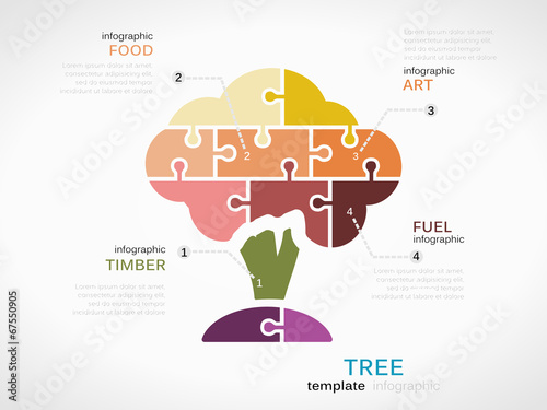 Tree Concept Infographic Template With Arbor Buy This Stock Vector