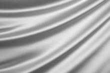 Silver Silk Textile Background with Copy Space