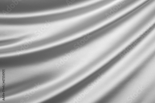 Fotobehang Stof Silver silk textile background with copy space