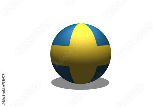 Fototapete - Sweden Flag themes idea design in  illustration