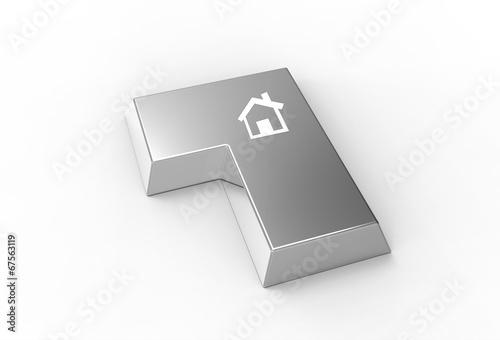 Enter key with house symbol - Buy this stock illustration