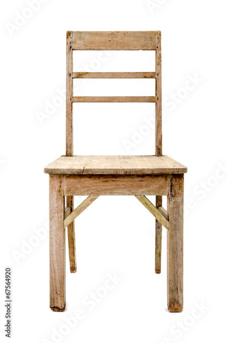 dirty old wooden chair - Buy this stock photo and explore ...