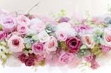Fototapeta Flowers - プリザーブドフラワー バラ ピンクのバラ