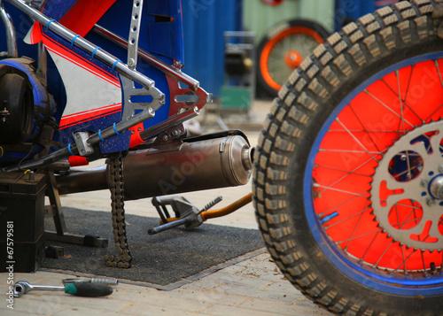 Fotografía  Rear wheel of the motorcycle