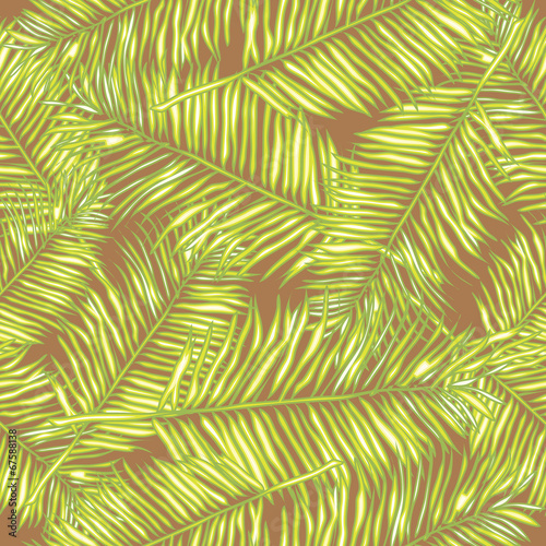 Ingelijste posters Tropische Bladeren Palm leaves. Seamless vector background. Floral.