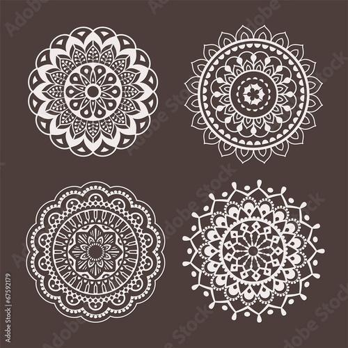 Fotografia, Obraz  Lace ornaments, stencils