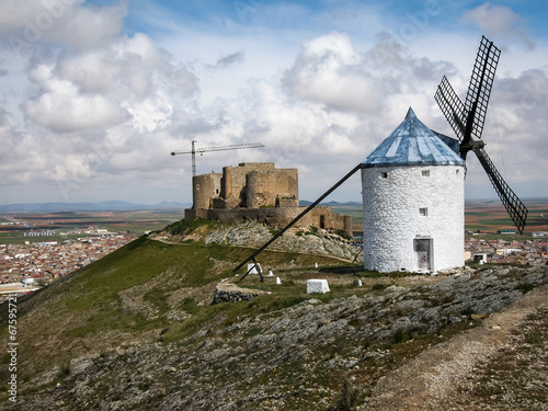 Aluminium Prints Mills Windmills at Consuegra, Spain
