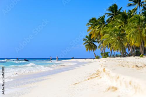 Fotografia Sandy beach in the Dominican Republic.