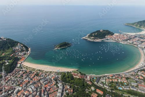 Tableau sur Toile San Sebastián desde el aire