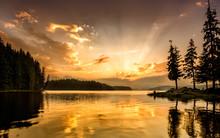 Mountain Lake At Down