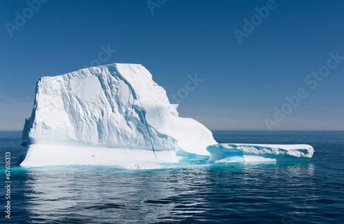 Fond de hotte en verre imprimé Pôle Iceberg in Disko Bay, Ilulissat, Greenland