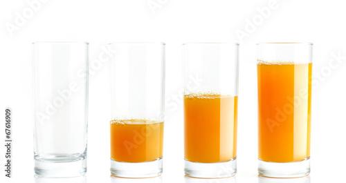Foto op Canvas Sap Orange Juice gradient fill