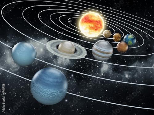 Fotografía Solar system illustration