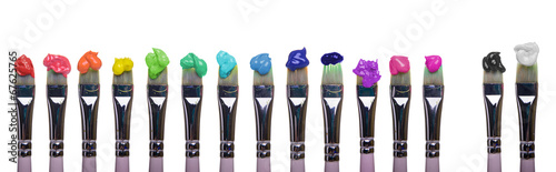 Paint Brushes of palette