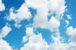 Leinwandbild Motiv blue sky background with white clouds